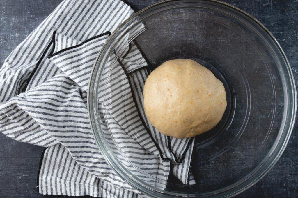 bowl of brioche dough