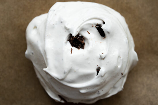 french meringue with chocolate chips